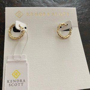 NWT Kendra Scott Maggie Huggie Earrings - Filigree